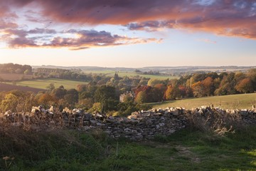 View from Stow-on-the-Wold, Cotswolds, England