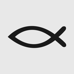 Fish sign. Christian fish symbol. Christianity. Ichthus icon