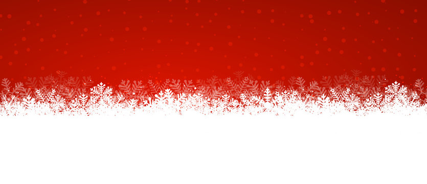 red snowy background panorama