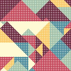 Retro abstract geometric design seamless pattern.