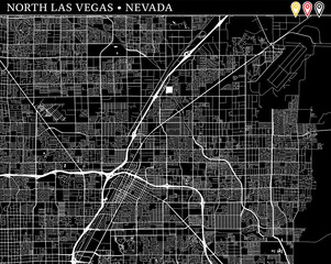 Simple map of North Las Vegas, Nevada