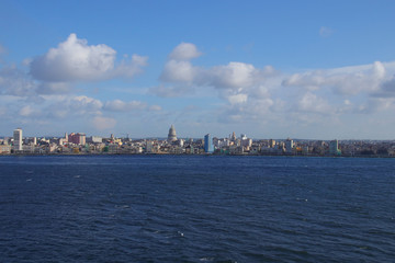 Havana, Skyline, View from a Cruise Ship