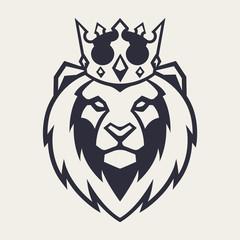 Lion in Crown Vector Mascot