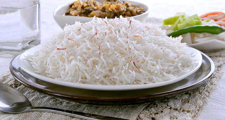 Boiled Rice with Vegetable