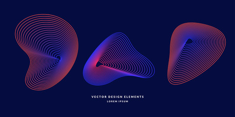 Vector abstract elemetnt with colored lines. Illustration suitable for design Fotoväggar
