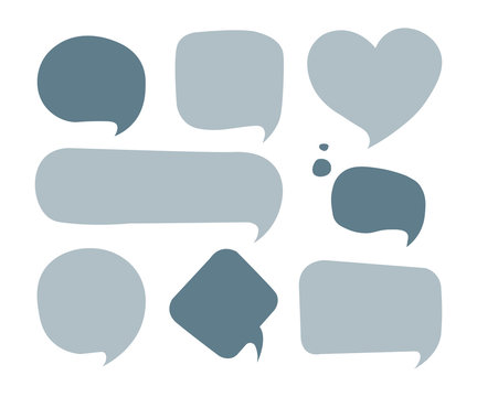 Vector speech bubble colorful set vector illustration