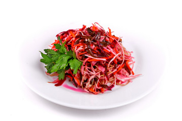 Salad of sauerkraut and carrots
