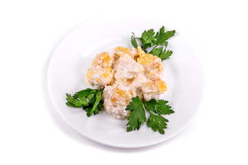 Fried chicken with pineapple