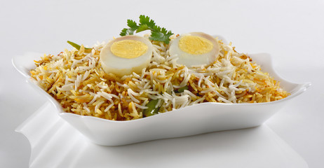 Delicious and spicy Egg Biryani