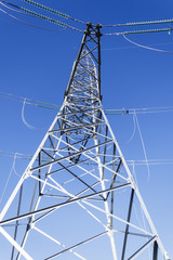 high-voltage transmission lines, accident, breakage, wire breakage, close-up. life threatening
