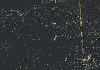 Subtle dark grey vector texture overlay. Abstract gold splattered glamour background. Dotted grain golden grunge backdrop. Festive christmas luxury backdrop