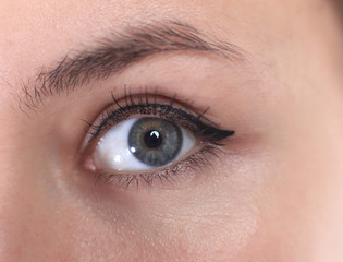 close up.beautiful women eye. macro image