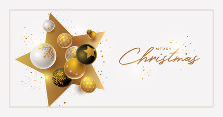 Vector Christmas and new year greeting banner design