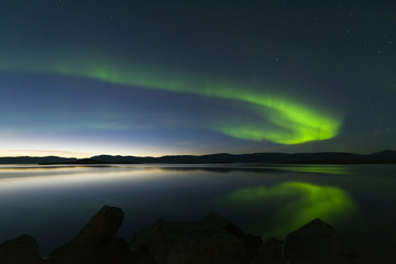 Aurora borealis in Northern Sweden
