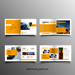 Company abstract business brochure template