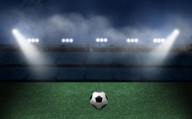 Soccer and football background with a ball.