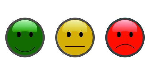 Smiley Button Bewertung