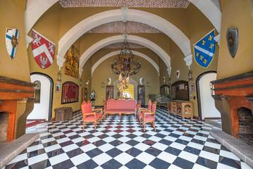 Beautiful interior of Medieval Castle in Guanajuato, Mexico