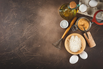Items and ingredients for baking