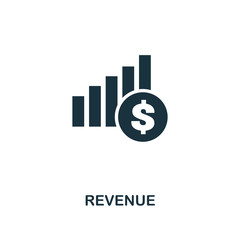 Revenue icon. Premium style design from crowdfunding icon collection. UI and UX. Pixel perfect revenue icon. For web design, apps, software, print usage.