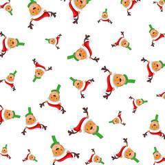 cute reindeer christmas characters pattern