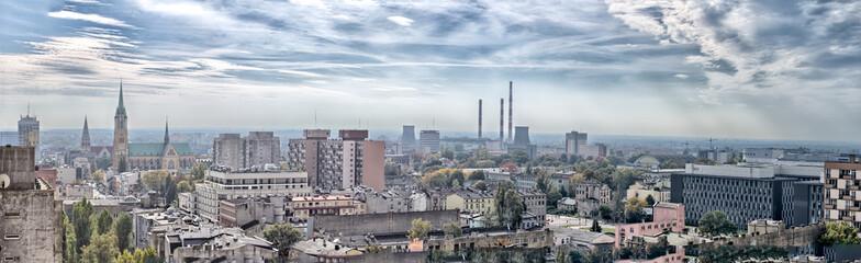 Panorama miasta - Katedra - Łódź - Polska