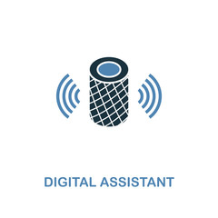Digital Assistant icon in two colors design. Premium style from smart devices icon collection. UI. Illustration of digital assistant icon. For web design, apps, software and printing.