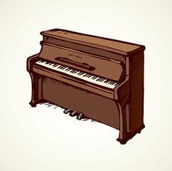 Vector drawing of grand piano