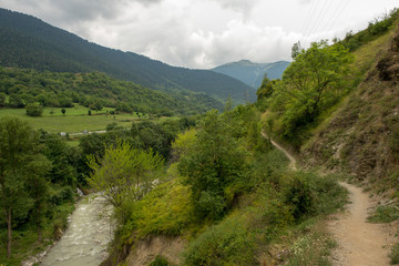 The valley of Aran in the Pyrenees, Lleida