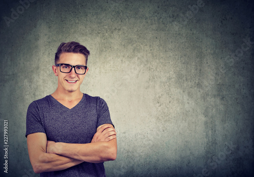 2b988e7cf85 Nerdy smart man in glasses