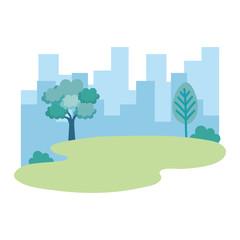 park landscape scene icon