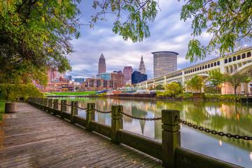 Cleveland, Ohio, USA Downtown Skyline