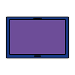 tablet screen isolated icon