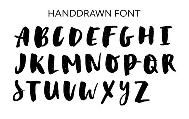 Hand drawn lettering set. Vector Alphabet. Custom Typography for Designs: Logo, for Poster, Invitation, etc.