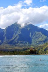 Beautiful Emerald Mountains Over Hanalei Bay