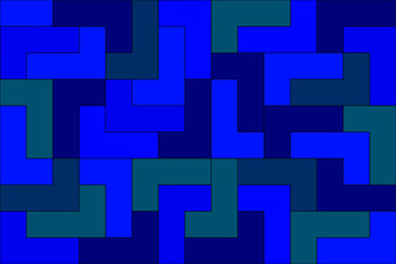Blue shaded maze background