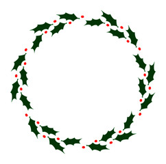 Classic holly wreath