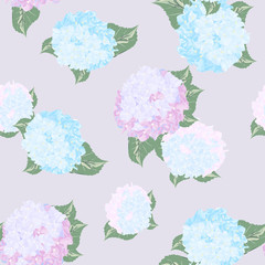 Bright seamless pattern hydrangea, pattern, background.
