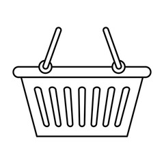 shopping basket isolated icon