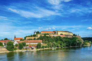 Deurstickers Vestingwerk Novi Sad, Serbia - June 25, 2018: Petrovaradin fortress in Novi Sad.