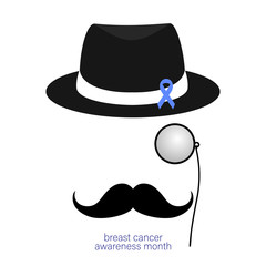 London gentleman with hat and monocle.Secret agent. Businessman, mafia, detective. Vector cartoon illustration