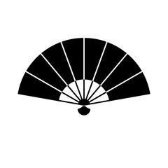 hand fan icon vector , logo on a white background