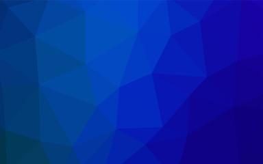 Dark BLUE vector polygonal pattern.