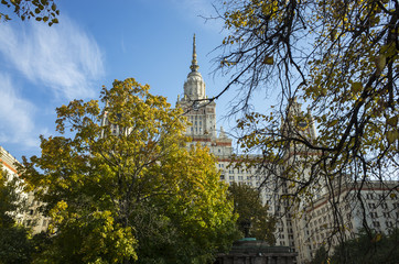 Moscow State University building, Russia