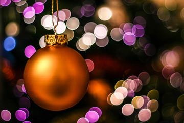 Christmas ball on bokeh