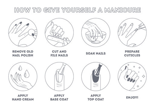 How to give yourself manicure at home