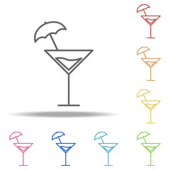 tropical cocktail icon. Elements of Alcohol drink in multi colored icons. Simple icon for websites, web design, mobile app, info graphics