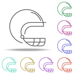 rugby helmet outline icon. Elements of Sport in multi color style icons. Simple icon for websites, web design, mobile app, info graphics