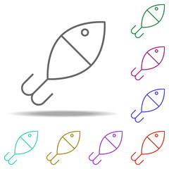 Fishing float outline icon. Elements of Sport in multi color style icons. Simple icon for websites, web design, mobile app, info graphics