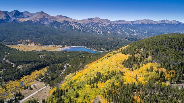 Fall in Colorado, overlooking the Breckenridge ski area and Boreas Pass